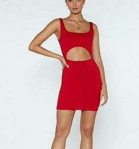 Halfway To Heaven Cut Out Red Dress US Size 4